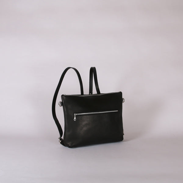 Black Zip Top Rucksack