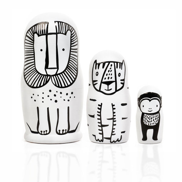 Wee Gallery Russian Nesting Dolls Wild