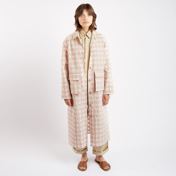 Rose Gingham Travail Duster