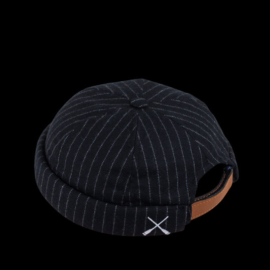 Black Stripes Wool Beton Cire Miki Hat