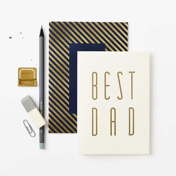 Katie Leamon Gold Best Dad Card