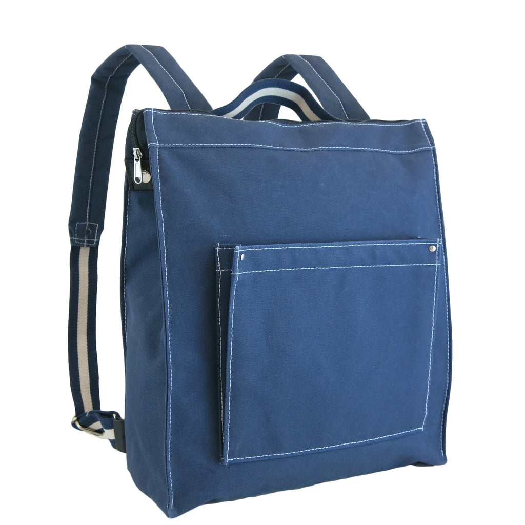 Navy and White Box Rucksack
