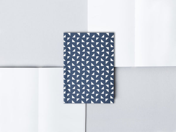 Ola Navy Triangle Print Small Notebook