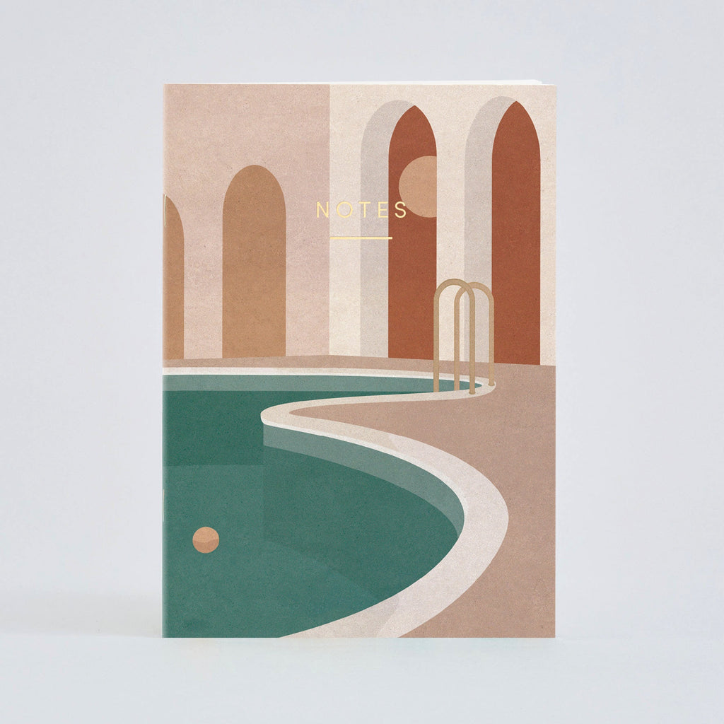 Wrap Pool with arches notebook