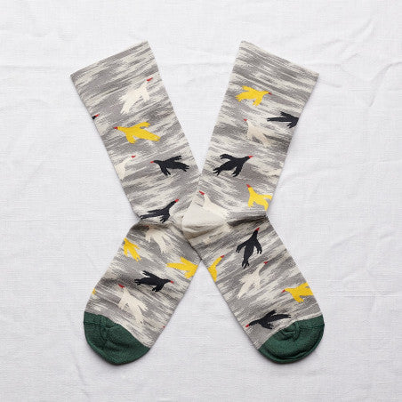 Bonne Maison Swooping Birds Socks/ PS6-01