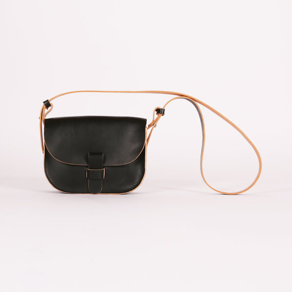 Black Raw Loop Bag