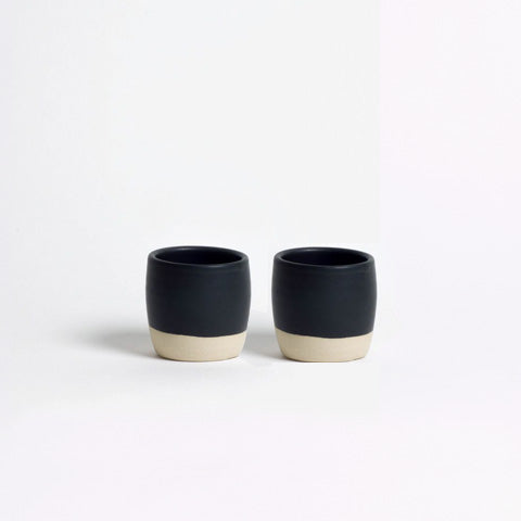 DOR & TAN Matt Black Espresso Cup Set