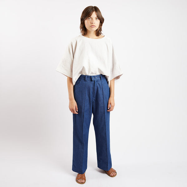 Denim Pop Pleat Trousers