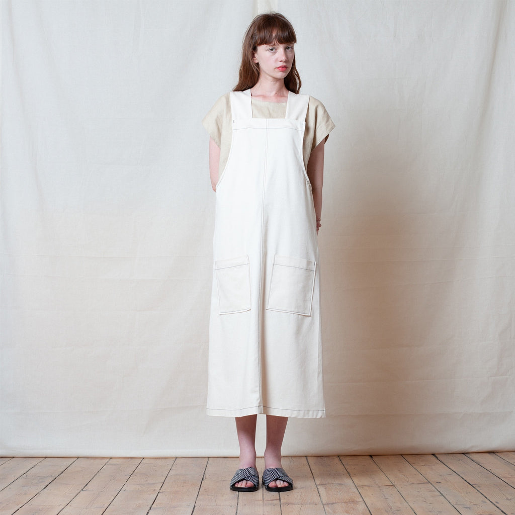 Cream Canvas Strike Dress