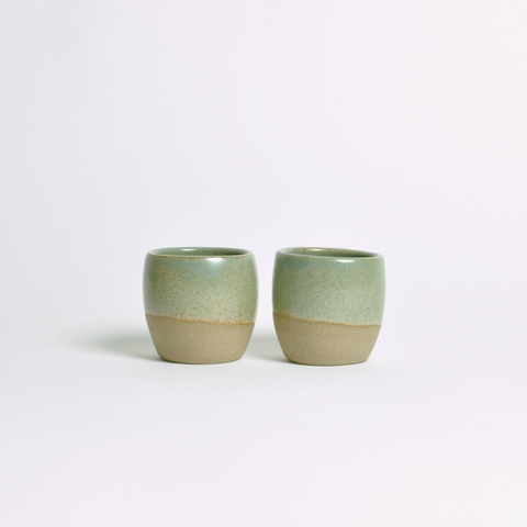 DOR & TAN Celadon Green & Speckle Espresso Cup Set