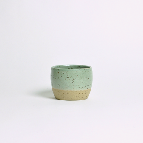 DOR & TAN Celedon Green & Lava Tea Bowl