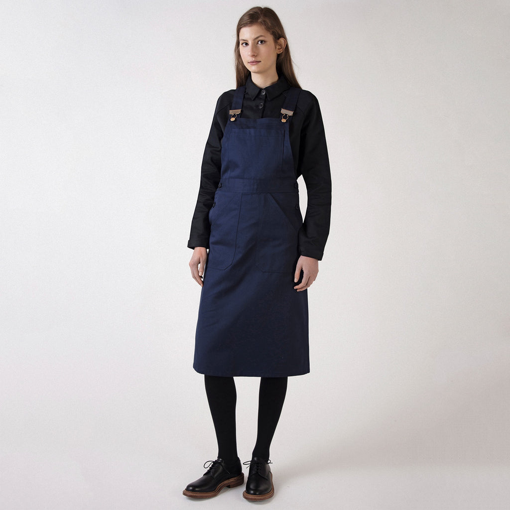 Navy Pinafore Dress