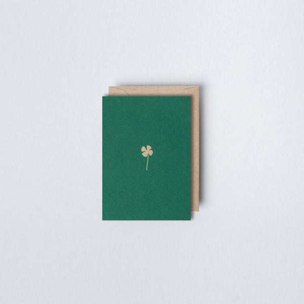 Ola Mini Foiled Clover Card