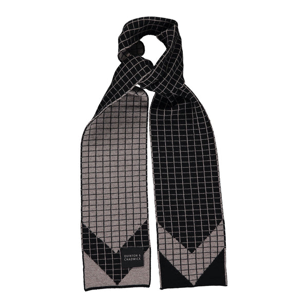Quinton & Chadwick Graph Scarf Taupe/Black