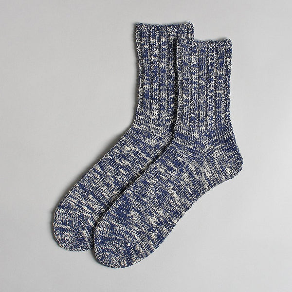 RoToTo Navy Low Gauge Slub Socks