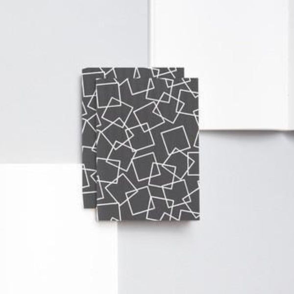 Ola Grey Square Print Small Notebook