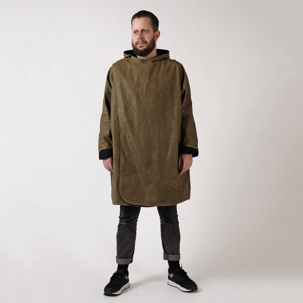Mens' Sand and Black Batwing Coat
