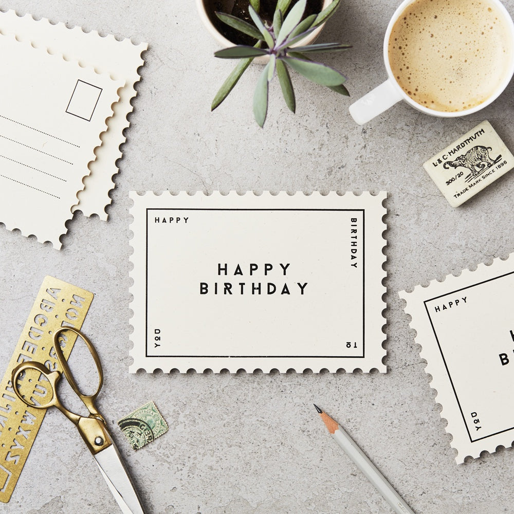 Katie Leamon Happy Birthday Postcard