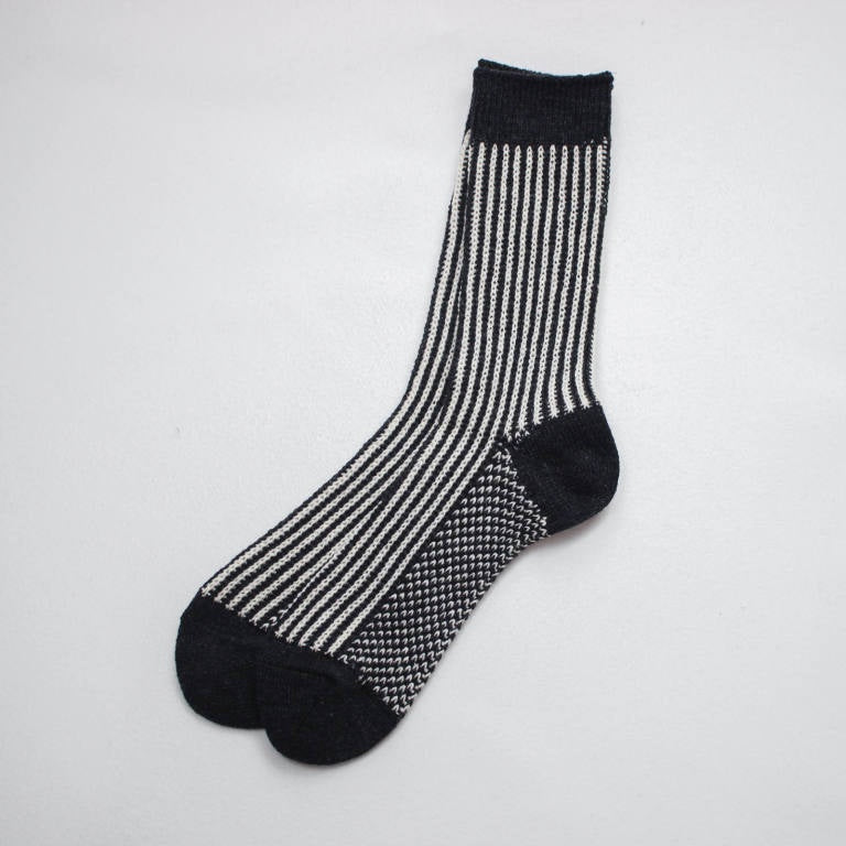 RoToTo Black C.W.S Striped Sock