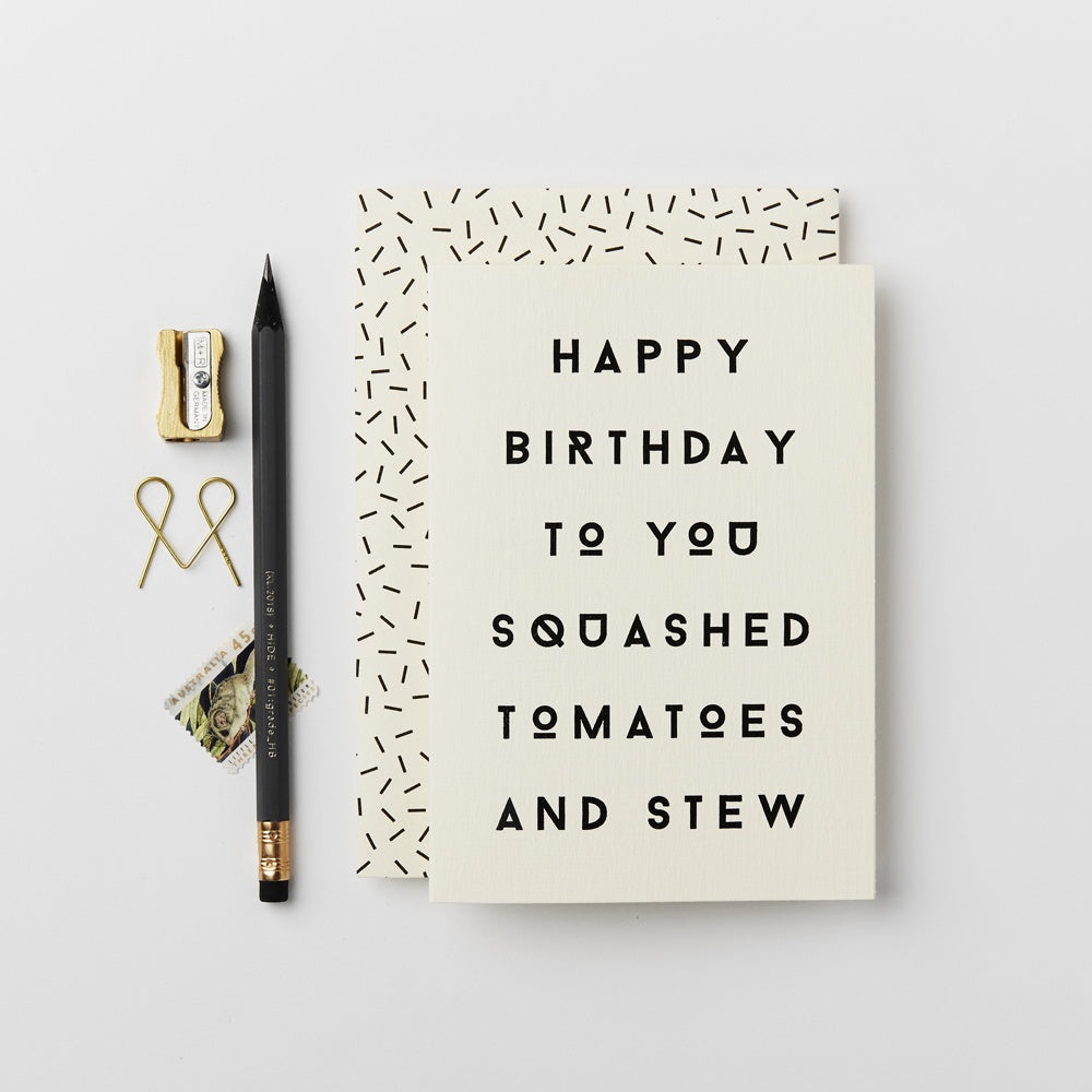 Katie Leamon Squashed Tomatoes Card
