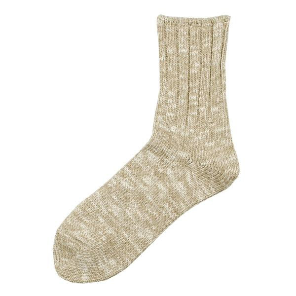 Rototo Beige Low Gauge Slub Socks