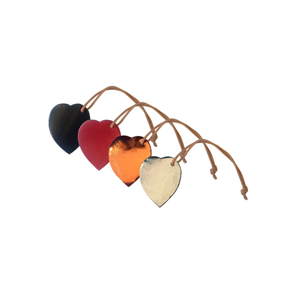 Leather Christmas Tree Decor - Hearts