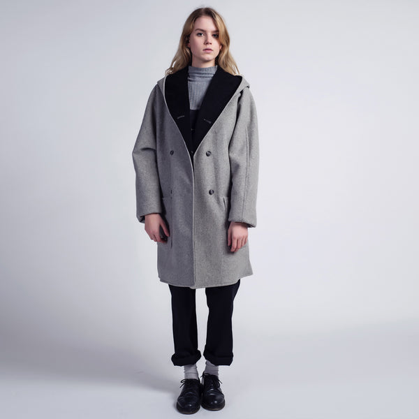 Grey and Cord Piper Coat