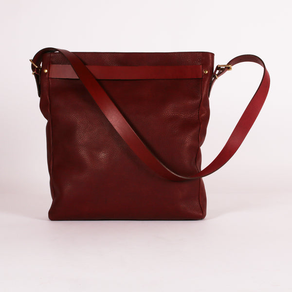 Plum Slouch Tote