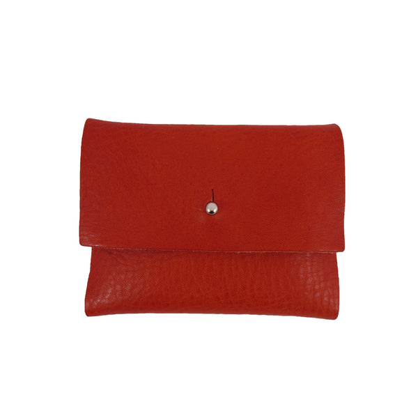 Tumbled Red Loux Wallet
