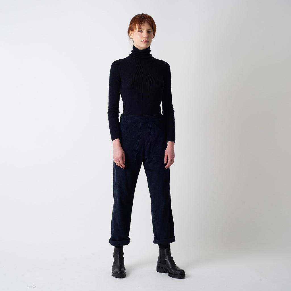 Navy Cord Ree Trousers