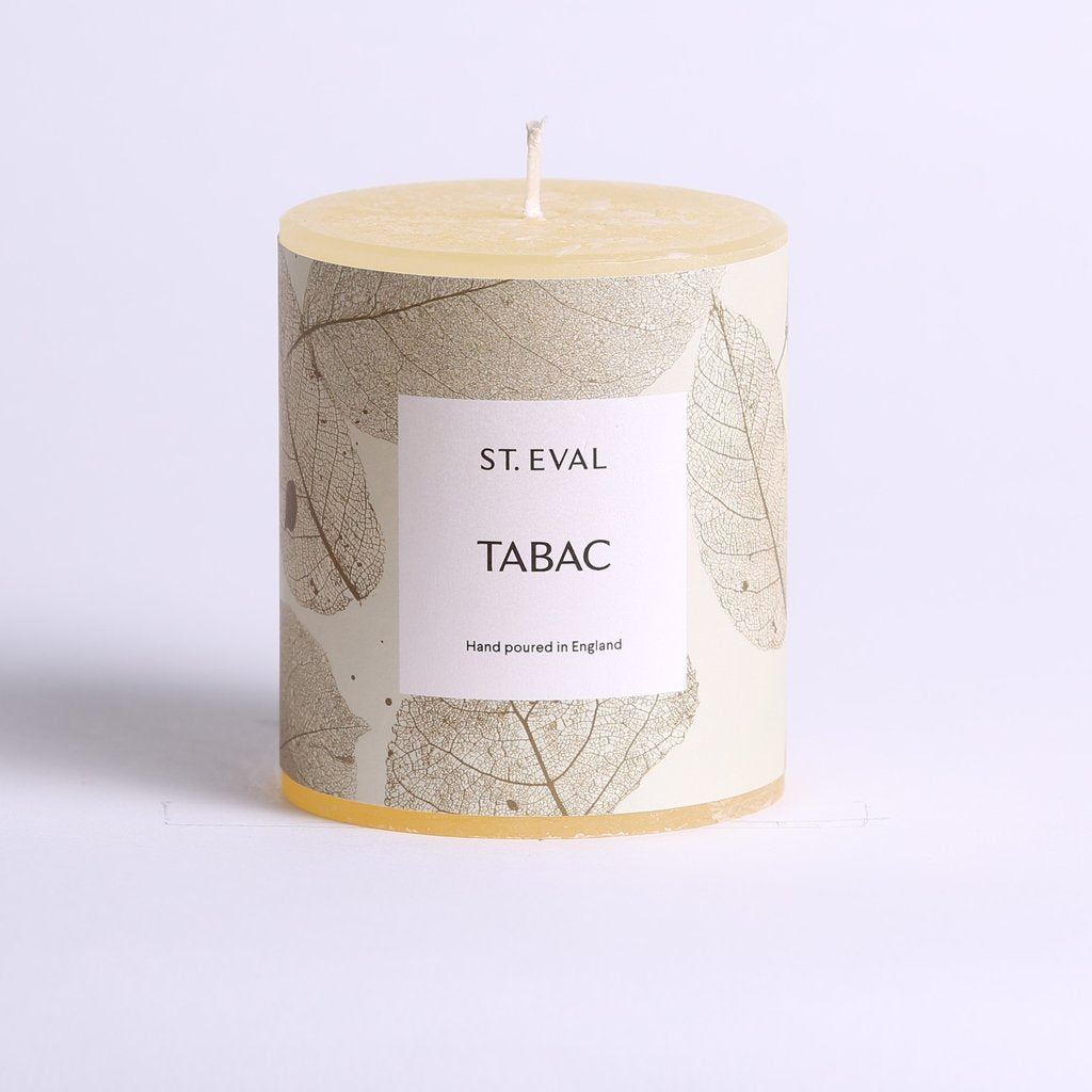 St. Eval Eden Pillar Candle Tabac