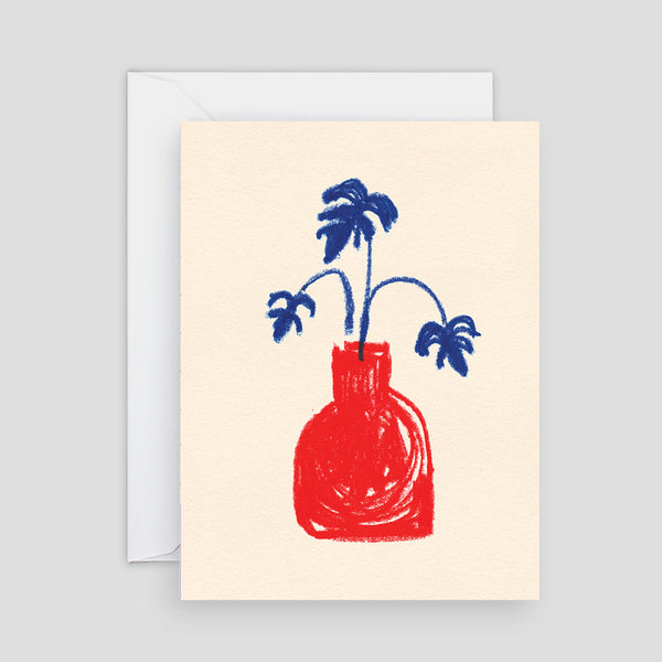 Wrap Red Vase Mini Card