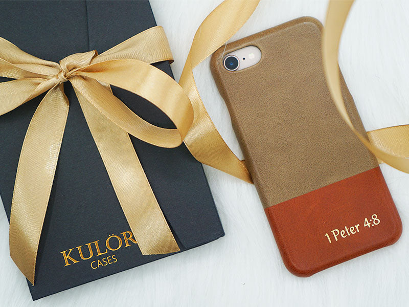 Personalized iphone case christmas gift with packaging