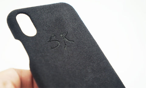 laser engraved suede case