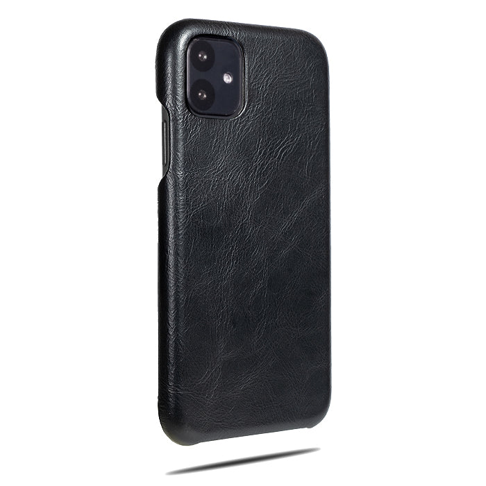 All Black iPhone 11 Leather Case-iPhone 11 Leather Snap-On Case-Personalized custom iPhone case-Kulör Cases
