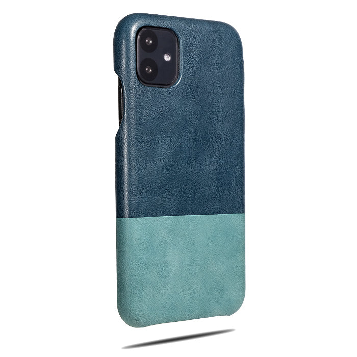 Peacock Blue & Ocean Blue iPhone 11 Leather Case-iPhone 11 Leather Snap-On Case-Personalized custom iPhone case-Kulör Cases