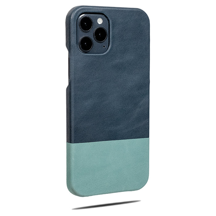 Peacock Blue & Ocean Blue iPhone 12 Pro Lærveske-Kulör Cases- Tilpasset Apple telefon Veske