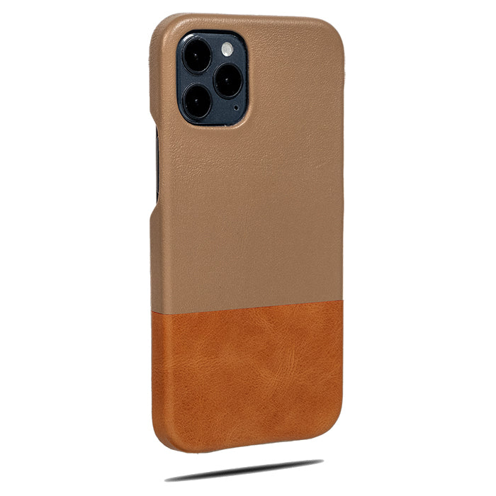 Sage Green & Walnut Brown iPhone 12 Pro Max Leather Case-Kulör Cases- Custom Apple Phone Case