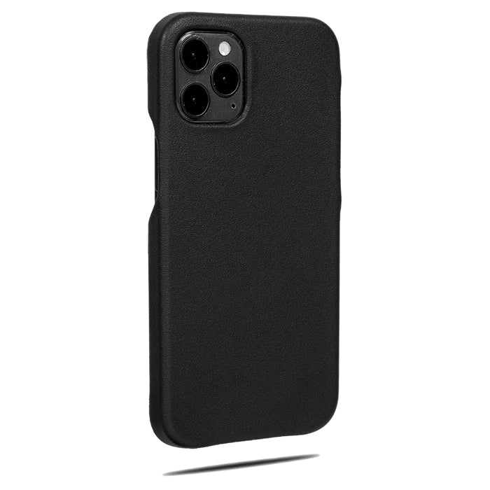 All Black iPhone 12 Pro Max Leather Case-Kulör Cases- Custom Apple Phone Case