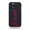 Personalized Signature iPhone 12 Pro Max Black Leather Case