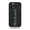 Personalized Bot Font iPhone 12 Pro Max Black Leather Case