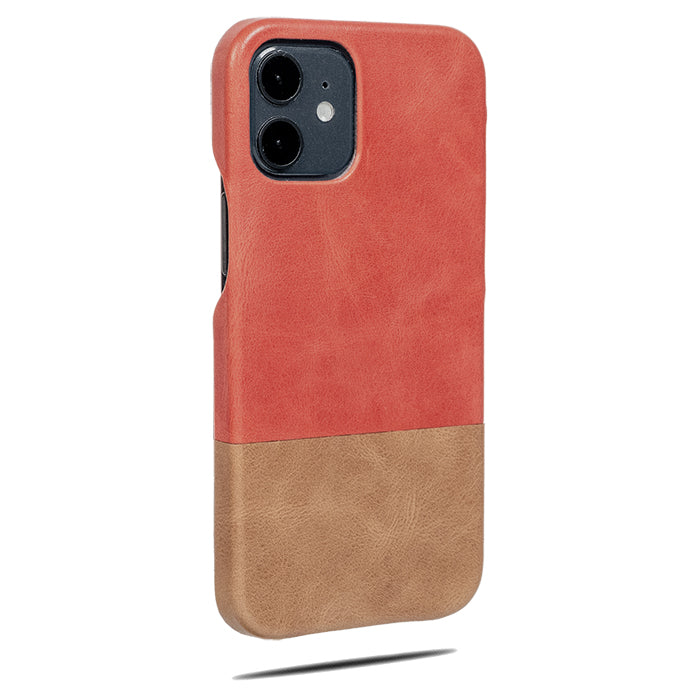 Rosewood Pink & Sage Green iPhone 12 Leather Case-Kulör Cases- Custom Apple Phone Case
