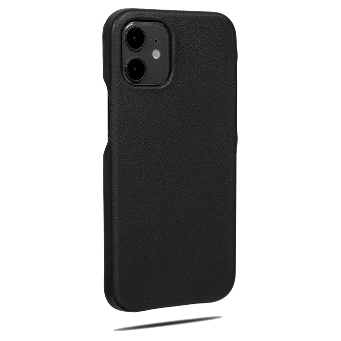 All Black iPhone 12 Max Lærveske-Kulör Cases- Tilpasset Apple telefon Veske