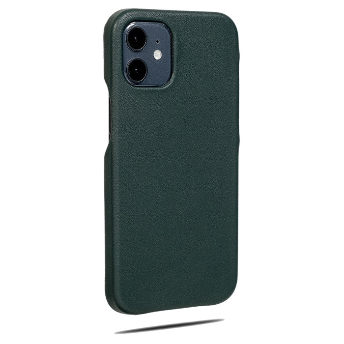 Forest Green iPhone 12 Max Lærveske-Kulör Cases- Tilpasset Apple telefon Veske
