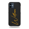 Personalized Signature iPhone 12 Black Leather Case