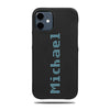 Personalized Bot Font iPhone 12 mini Black Leather Case