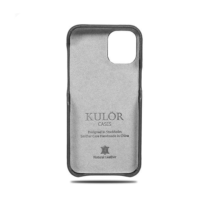 Personalized Cancer iPhone 12 mini Black Leather Case