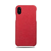 Buy personalized Scarlet Red Micro Suede iPhone Xs / iPhone X Monogram Case online-Kulör Cases