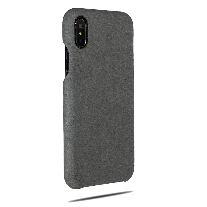 Buy personalized Light Gray Micro Suede iPhone Xs / iPhone X Monogram Case online-Kulör Cases