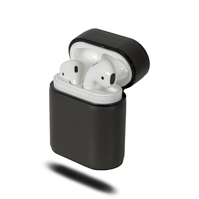 Fossil Gray Crow Black Airpods Leather Case
